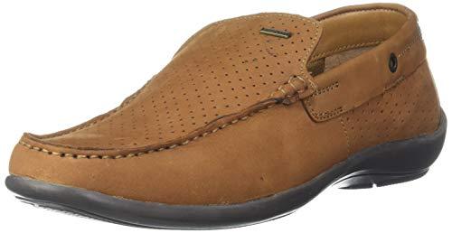 Woodland Men's Cashew Brown Leather Moccasin-8 UK (42 EU) (9 US) (GC 3261119)