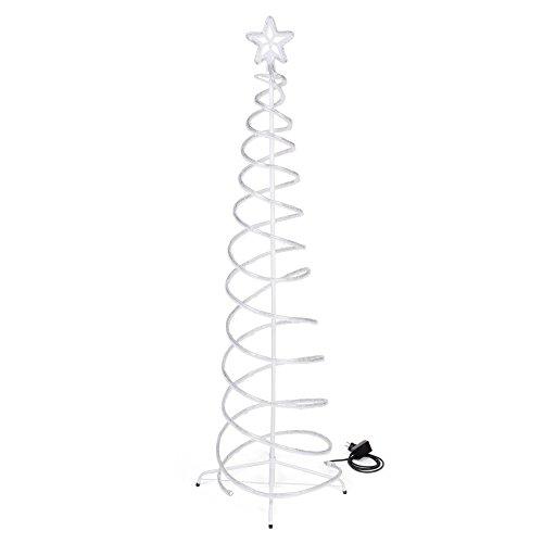 Dmail - Albero di Natale a spirale con stella, 180 cm