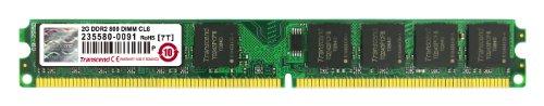 Transcend Arbeitsspeicher 2GB JM DDR2 800Mhz U-DIMM 2Rx8 128Mx8 CL5 1.8V