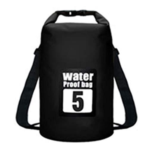 5L / 10L / 15L / 20L / 30L Bolsas Impermeables Empresa de Agua PVC PVC Impermeable Mochila Bolsa de Deportes Rafting Backpacks Mochilas Impermeables (Color : 5L Black)
