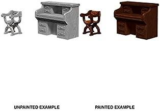 Wizkids Deep Cuts Unpainted Miniatures Desk & Chair