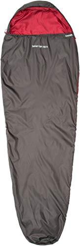CAMPZ Trekker Light 300 XL Schlafsack anthrazit/rot Ausführung Reißverschluss rechts 2020 Quechua Schlafsack