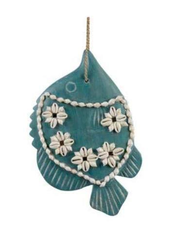 LES JARDIN D'ULYSSE - Decoración de Pared con diseño de Peces Conchas, Azul, tamaño Grande