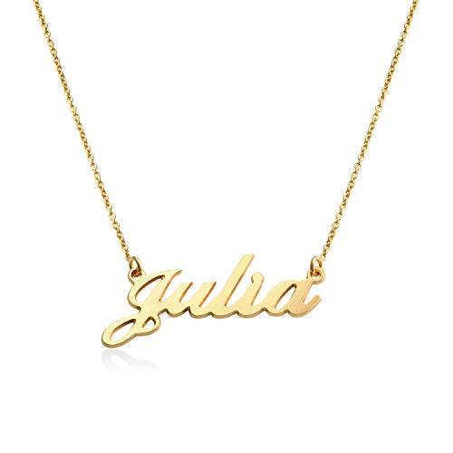 MyNameNecklace - Collana con nome personalizzato carattere classico in Oro Vermeil – regalo perfetto per donne
