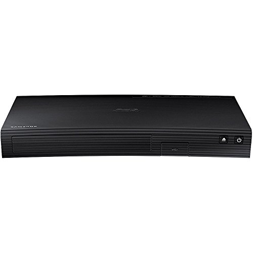 Samsung Blu-ray DVD Disc Player with Built-in Wi-Fi 1080p & Full HD Upconversion, Plays Blu-ray Discs, DVDs & CDs, Plus CubeCable 6Ft High Speed HDMI Cable, Black Finish