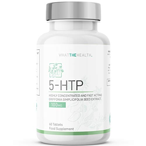 5 HTP Supplement (L-5-Hydroxytryptophan) - Griffonia Seed Extract Tablet | 100mg | 2 Month Supply | Natural 5HTP Tablets | 99% Pure 5-HTP Melatonin Alternative Supplements