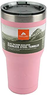 Ozark Trail Vacuum-Insulated Stainless Steel Tumbler 30 oz (1 Pc Light Pink)