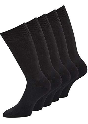 Lot de 6 paires de chaussettes de sport en coton noir 100 pointes finies à la main - Noir - 47-50