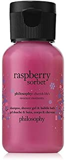 Philosophy Limited Edition Raspberry Sorbet Shampoo, Shower Gel & Bubble Bath (Travel Size)
