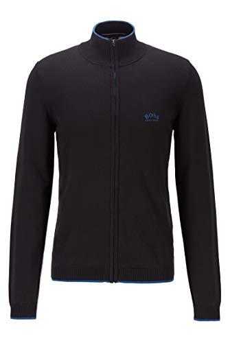 BOSS Mens Zoston_W20 Cardigan Sweater, Black (1), XL