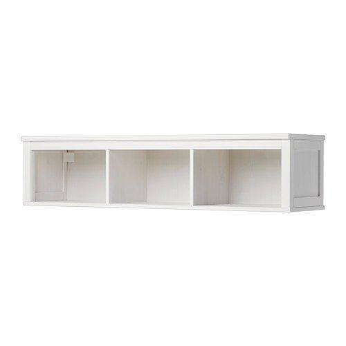 IKEA HEMNES Wandregal in weiß gebeizt; (149x37cm)
