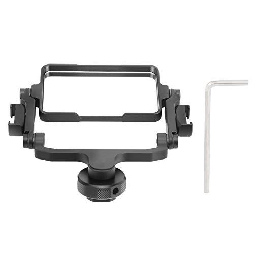 DAUERHAFT Kamera Flip Spiegelhalterung aus Aluminiumlegierung, 360 ° drehbar, faltbar, Acryllinse, Selfie Vlog Zubehör, für Mobiltelefone/Kameras/Spiegellose Kamera
