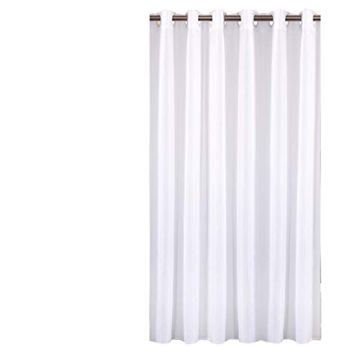 Sfoothome Polyester Shower Curtain Waterproof Bathroom Curtains Without Hooks,White(72 Inch Wide x 72Inch)