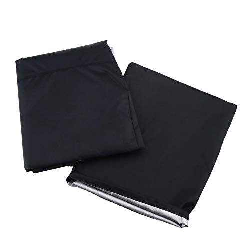 폴리에스터 30인치 파이어 피트 커버 블랙 라운드 헤비 듀티 프리미엄