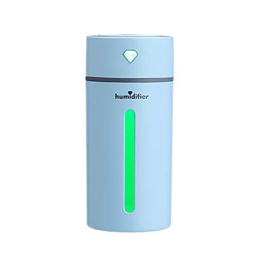 250ml Draagbare Diamond Cup Diffuser Ultrasone Diffusers Cool Mist-luchtbevochtiger Met 7 Kleuren Led-verlichting en Waterloze Automatische Uitschakeling Voor Thuis Uit,Blue