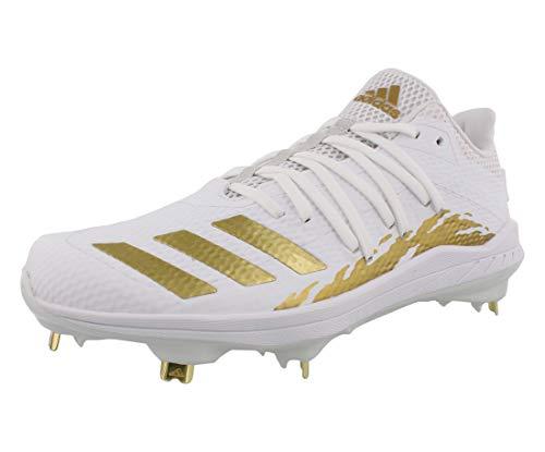 adidas Adizero Afterburner 6 Cleat - Men's Baseball White/Gold Metallic/Core Black