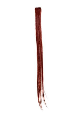 1 Clip Extension avec mèches lisses, rouge YZF-P1S25-35 63cm/ 25inch Extension capillaire postiche Teinte: 35