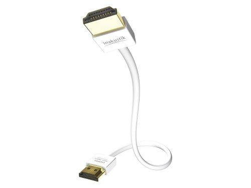 Inakustik 0042461015 - HDMI-Kabel (1,5 m, HDMI Typ A (Standard), HDMI Typ A (Standard), 3D, 18,2 Gbit/s, Weiß)