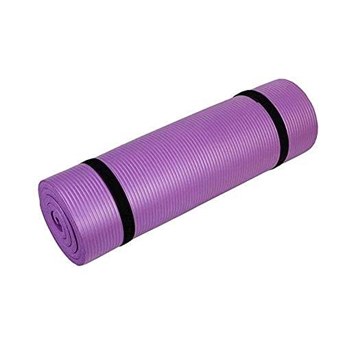 Sysrqcer Ejercicio de la Estera de Yoga NBR Fitness Mat de Espuma Extra Gruesa Antideslizante Grande de Alta Densidad Acolchada para Pilates Gimnasia Estiramiento Entrenamiento de Ejercicio