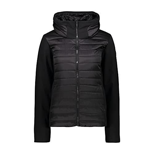 CMP Chaqueta acolchada Feel Warm Flat impermeable para mujer, Mujer, Chaqueta, 30K3796, Negro , 42