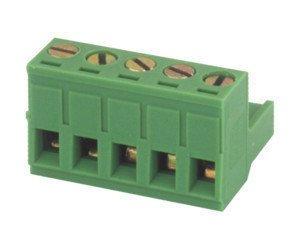 Regleta de conexión Hembra para Circuito Impreso 6 Contactos Color Verde Electro...