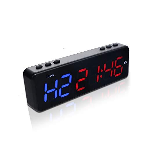 TTLIFE Temporizador de Fitness, Temporizador magnético, Temporizador de Fitness portátil con Control de aplicación Bluetooth, Temporizador de Pared para Gimnasio con 11 Modos de sincronización