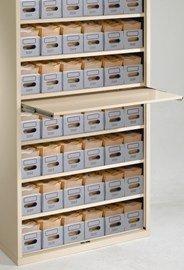 Amerson - Armadietto con 7 ripiani, senza porte, 56 vassoi di Lloyd George Notes - verde pastello