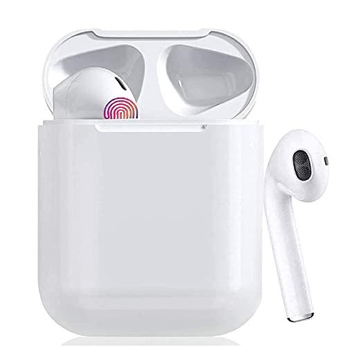 Auriculares Bluetooth 5.0 Auricular Inalámbrico Control Táctil con Graves Profundos In-Ear Auriculares Bluetooth con Caja de Carga Rápida IPX7 Impermeables,para Android/iPhone/Samsung