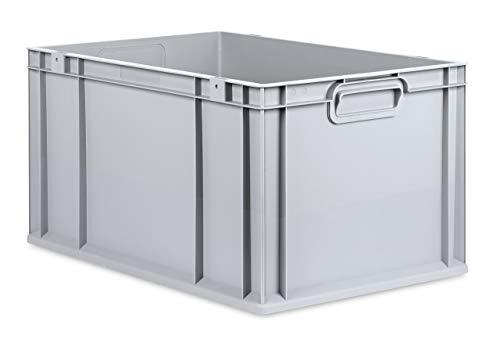 aidB Eurobox NextGen Grip, 600x400x320 mm, Griffe geschlossen, robuste Plastikbox aus Kunststoff mit ergonomischen Griffen, stapelbare Kunststoffkiste, ideal für die Industrie, 1St.