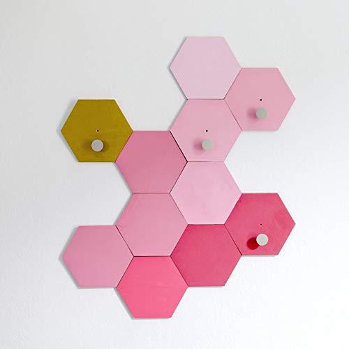 Honeycomb Wall Hook - Geometric Entryway Storage - Hexagon Wall Hook