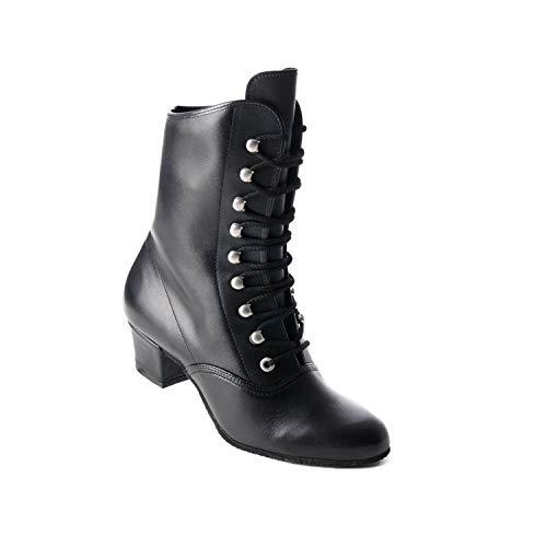Koch - Botas de piel para hombre, color negro Negro Size: 39 EU