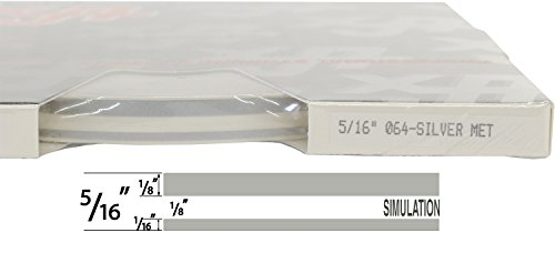 "Universal TFX 0005064 - Auto Customizing Dual Pinstripe - 5/16' x 150' (1/8"" Stripe, 1/8' Gap, Then 1/16"" Stripe) - 064-Silver Metallic"