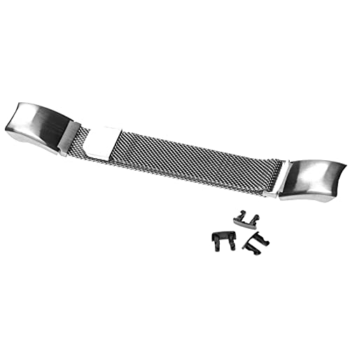 vhbw Brazalete, Correa Compatible con Huawei Honor Band 4 CRS-B19 smartwatch - 23 cm Acero Inoxidable Plata