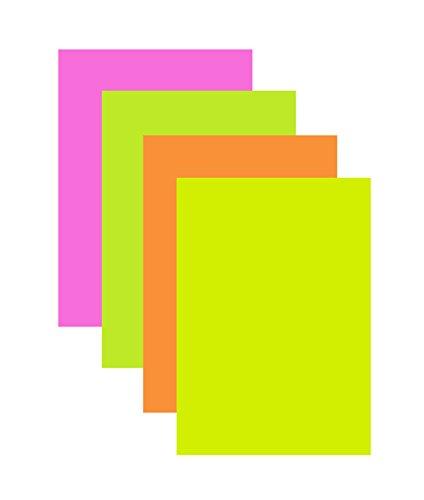 40 Blatt farbiges Druckerpapier / Farbe: je 10x Neon-pink, gelb, grün und orange