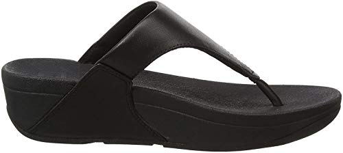 FitFlop Lulu Leather Toepost, Sandalias con Plataforma Women's, Negro (Black 001), 36 EU