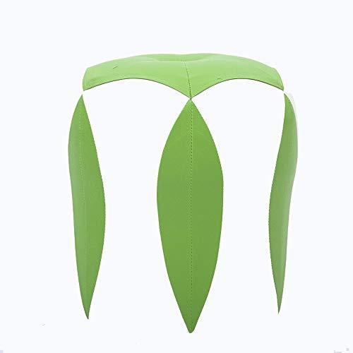 Jambala Moda Creativa pequeño Taburete Sala de Estar sofá de Cuero Colorido muelles for Zapatos otomano 35x33cm (Color : Green)