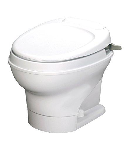 Thetford Aqua-Magic V RV ToiletHand Flush, Low, White - 31646