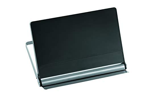 RÖSLE Kochbuchhalter, Hochwertiger faltbarer Halter für Kochbücher und Tablets, platzsparende Aufbewahrung, aus Edelstahl 18/10 und Kunststoff