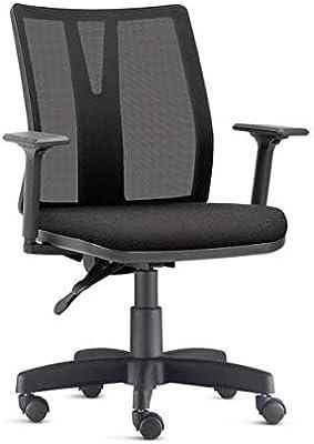 Cadeira Addit Ergonômica - 4124 Nr17 da ABNT com regulagem de Braço (Tecido Crepe cor: Preto)
