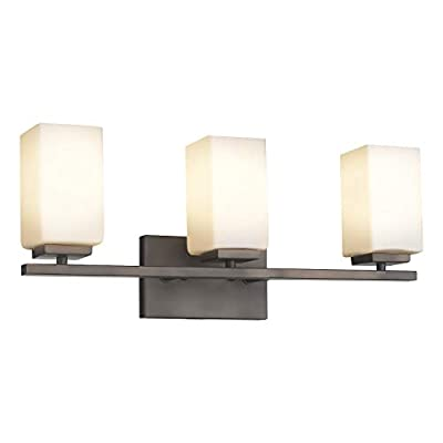Zeyu 3-Light Vanity Light, 22 Inch Industrial Bathroom Wall Sconce, Oil Rubbed Bronze Finish with Frosted Glass Shade, 6106-3 ORB