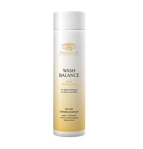 DERMAPLAN - Wash Balance/Waschlotion für Gesicht und Körper - Hautreinigung bei Juckreiz, Neurodermitis und Schuppenflechte - Mildes Duschgel für juckende trockene Haut - Sanfte Reinigung
