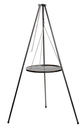 Schwenkgrill Dreibein Grillgestell inkl. Ketten Höhenverstellbar Höhe: 1,40 m rostfrei verzinkter Stahl - Ohne Grillrost! - von Brandsseller