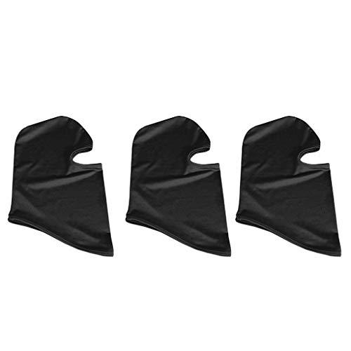 TianranRT Outdoor Ski Motorrad Radfahren Sturmhaube Voll Gesicht Maske Hals Ultra Dünn 3 Pack