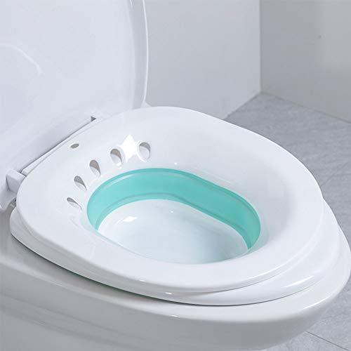 HOTEU Sitzbad über der Toilette Faltbare Hüftperineal-Badewanne Vermeiden Sie das Hocken Persönliche Wasch-Bidet-Schüssel für schwangere Frauen mit Hämorrhoiden-Linderung