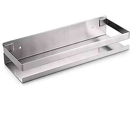 Estantería de baño de acero inoxidable con soporte de ducha para pared para almacenamiento de ducha, soporte de esquina para el almacenamiento del baño y la cocina, sin taladrar 30 cm