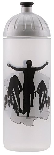 Original ISYbe Marken-Trink-Flasche für Kinder und Erwachsene, 700 ml, BPA-frei, Fahrrad-Motiv, geeignet für Schule-Reisen-Sport & Outdoor, Auslaufsicher auch mit Kohlensäure, Spülmaschine-fest