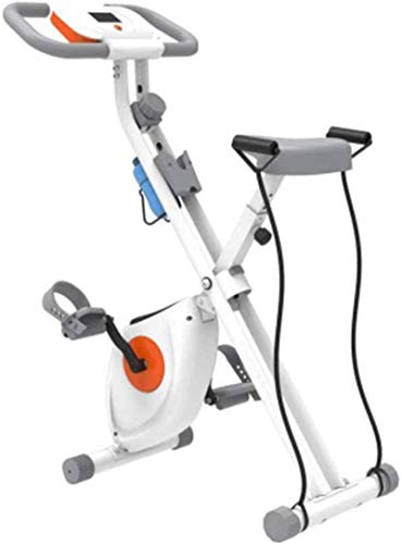 Bicicleta Estática con Pantalla LCD Bicicleta De Ejercicio Cardio Plegable con Sensores De Pulso mwsoz