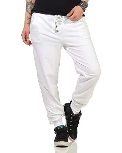 ZARMEXX Pantalones de chándal para mujer, de algodón, estilo clásico Blanco Talla única