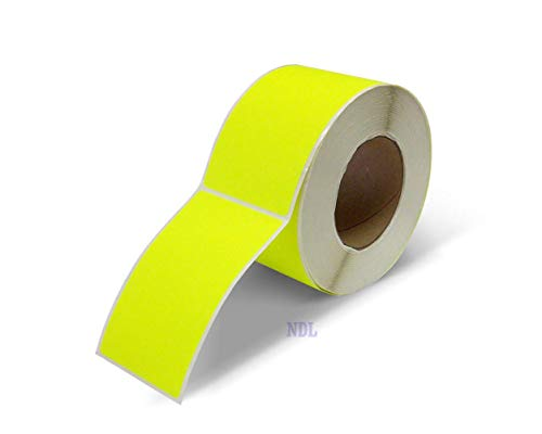 Next Day Labels, 3 X 5 Rectangle Inventory Color Coding Labels, 500 Per Roll (Fluorescent Yellow)