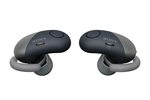 Sony Wireless Bluetooth In Ear Headphones: Noise Cancelling Sports Workout Ear Buds for Exercise and Running - Cordless, Sweatproof Sport Earphones, Built-In Microphone, EXTRA BASS –Black WF-SP700N/B
